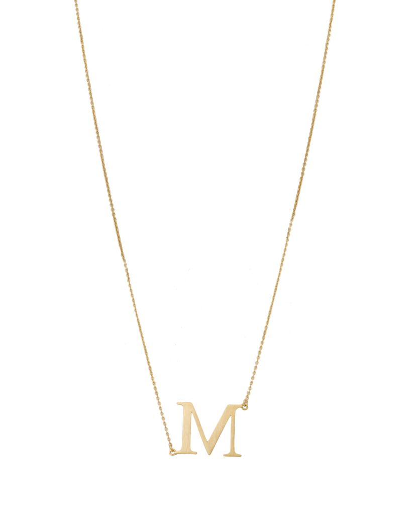 Initial 'M' Necklace