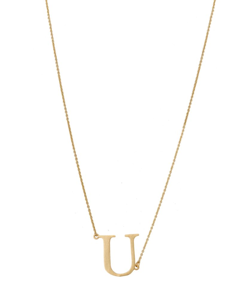 Initial 'U' Necklace