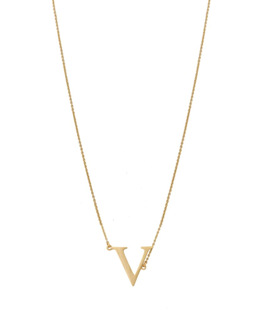 Initial 'V' Necklace