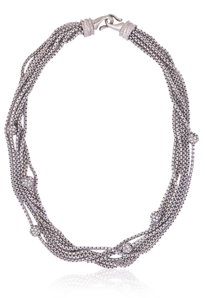 Multi-Link Chain Collar Necklace