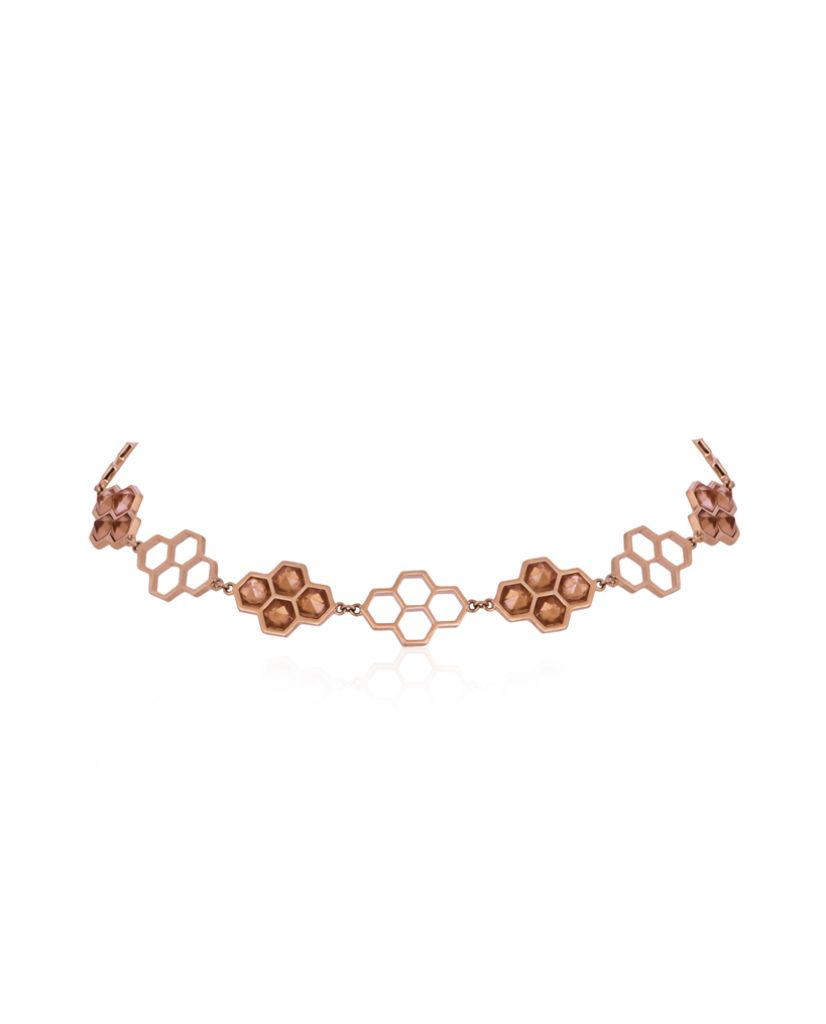Stella Honeycomb Citrine Choker in 18K Gold