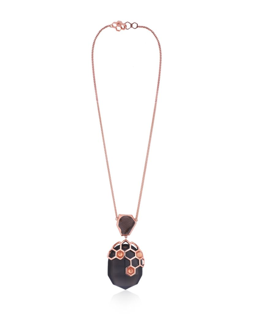 Opela Smoky Pendant Necklace in 18K Rose Gold