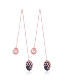 Alecia Smoky Threader Earrings in 18K Rose Gold