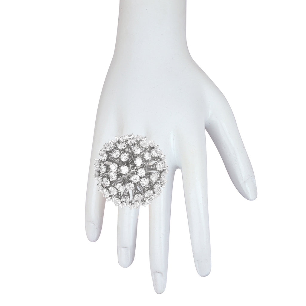 Glam Goddess Silver Ring - BANSRI                                                                 Jewelry Lounge