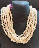 Mother of Pearl Beaded Twister Necklace