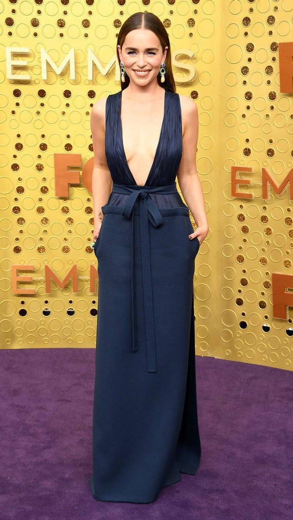Emmys best dressed fashion blog new girl order valentino Emilie Clarke