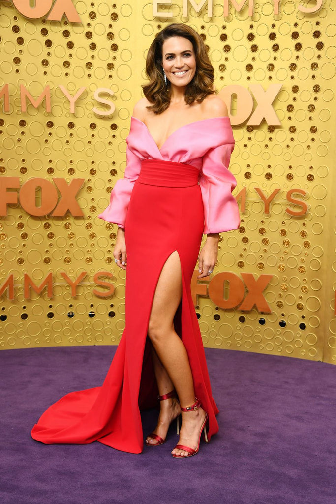 Emmys best dressed fashion blog new girl order Mandy Moore Brandon Maxwell