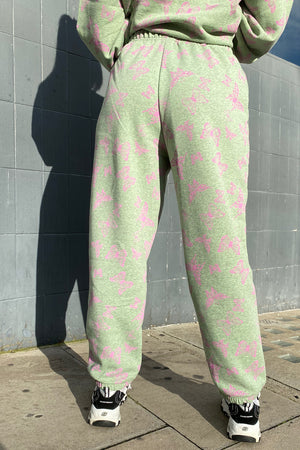 ACID GREEN & PINK BUTTERFLY JOGGER