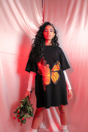 BUTTERFLY TSHIRT DRESS