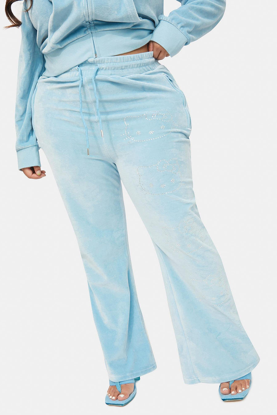Hello Kitty Velour Diamante Joggers Curve