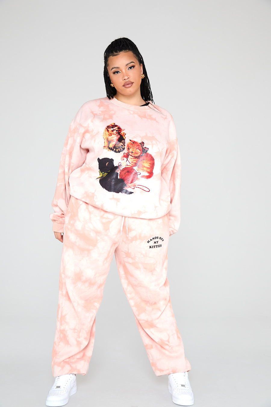 Kitten Peach Tie Dye Sweat Curve
