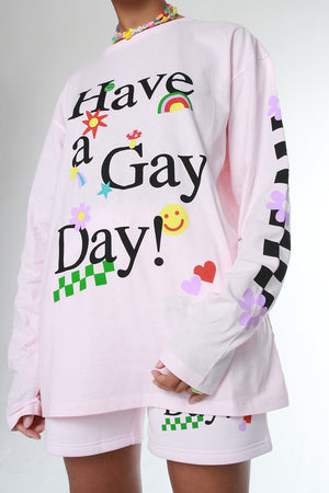 HAVE A GAY DAY LS TEE