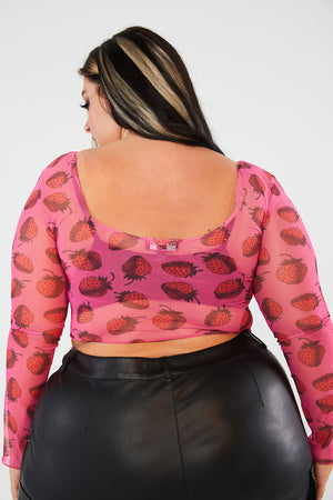 STRAWBERRY MESH TOP CURVE