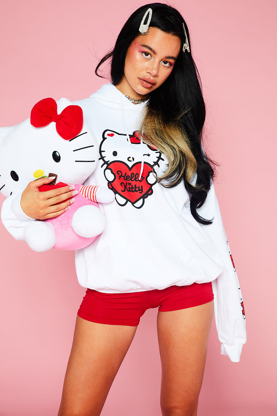 HELLO KITTY OVERSIZED HOODY
