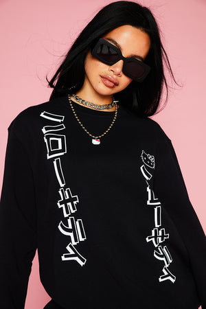 HELLO KITTY BLACK SWEAT