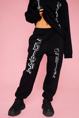 HELLO KITTY BLACK JOGGERS