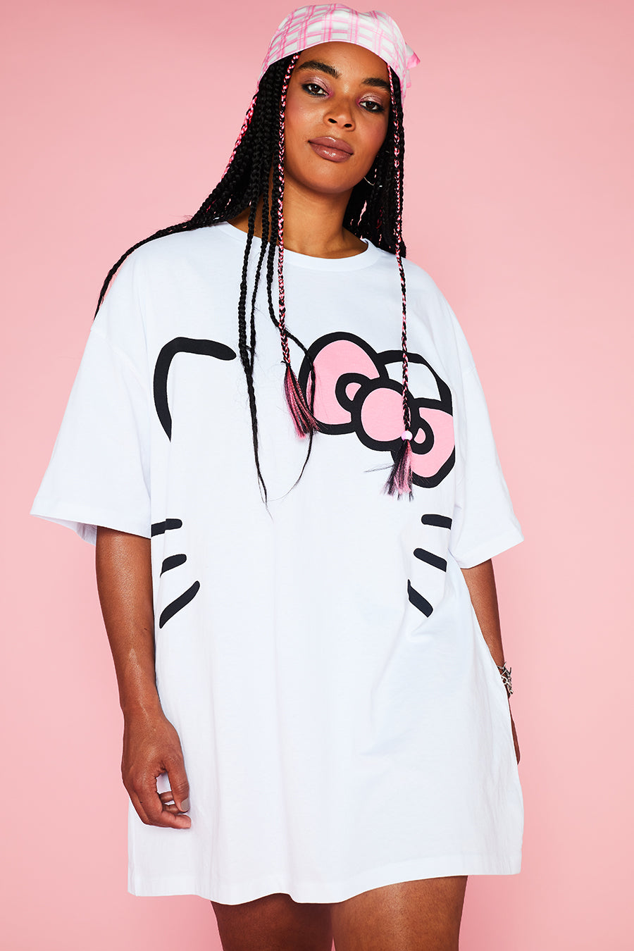 HELLO KITTY TEE DRESS CURVE