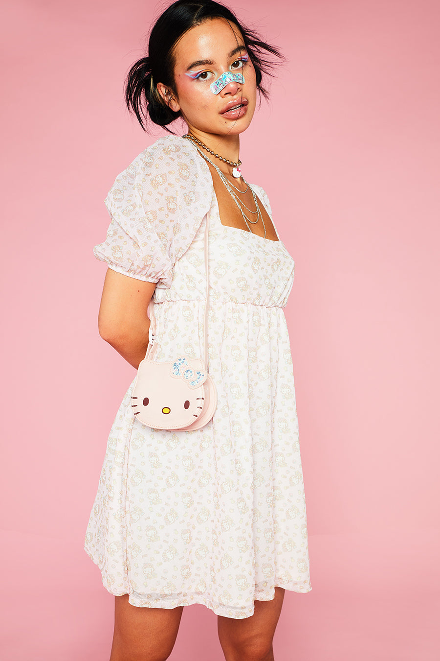 HELLO KITTY VOLUMINOUS PUFFY SLEEVE DRESS