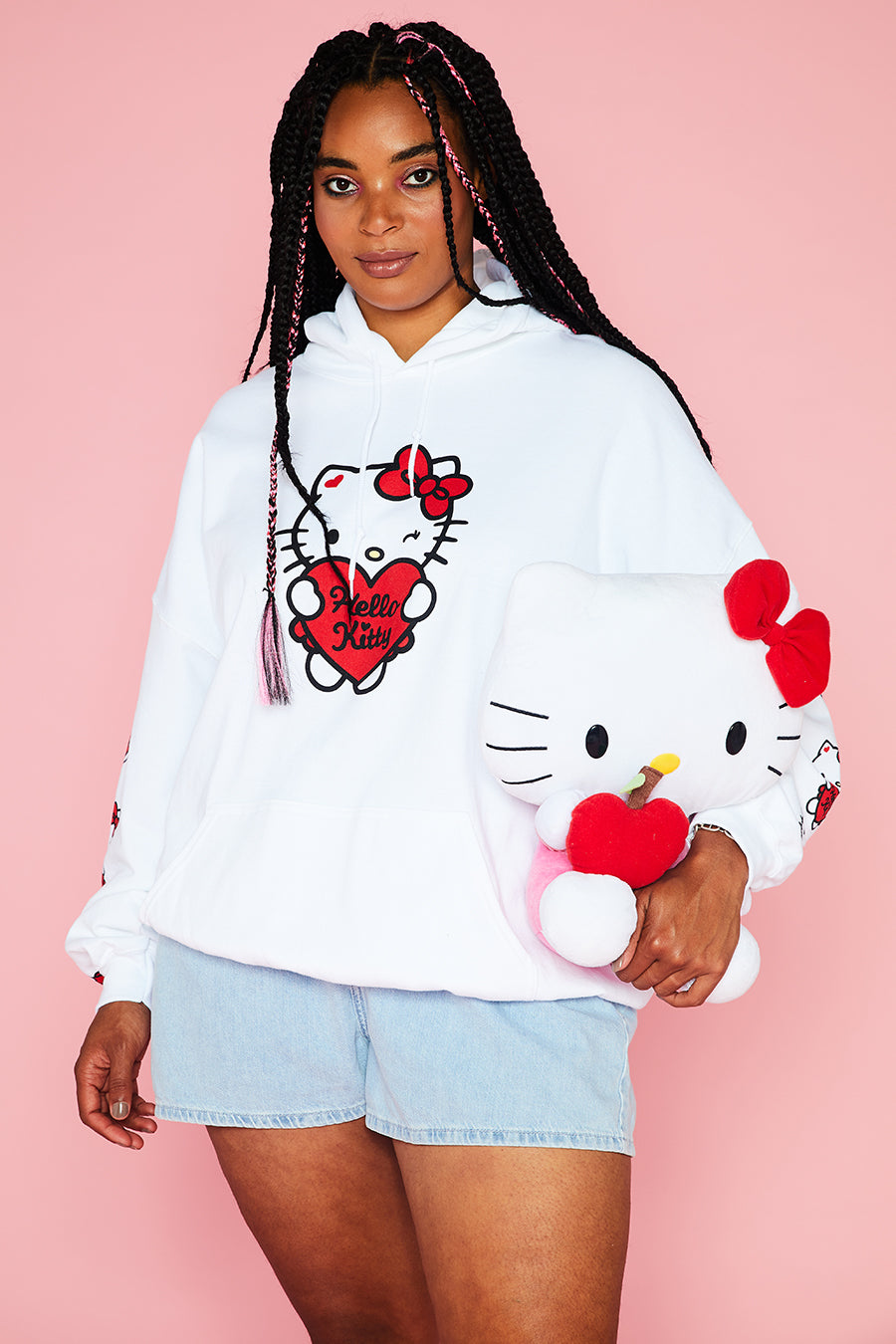 HELLO KITTY OVERSIZED HOODY CURVE