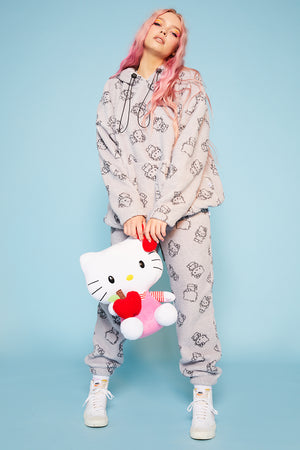 Hello Kitty all over print fleece joggers