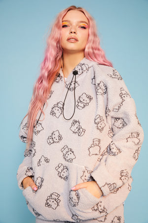 Hello Kitty all over print fleece hoodie