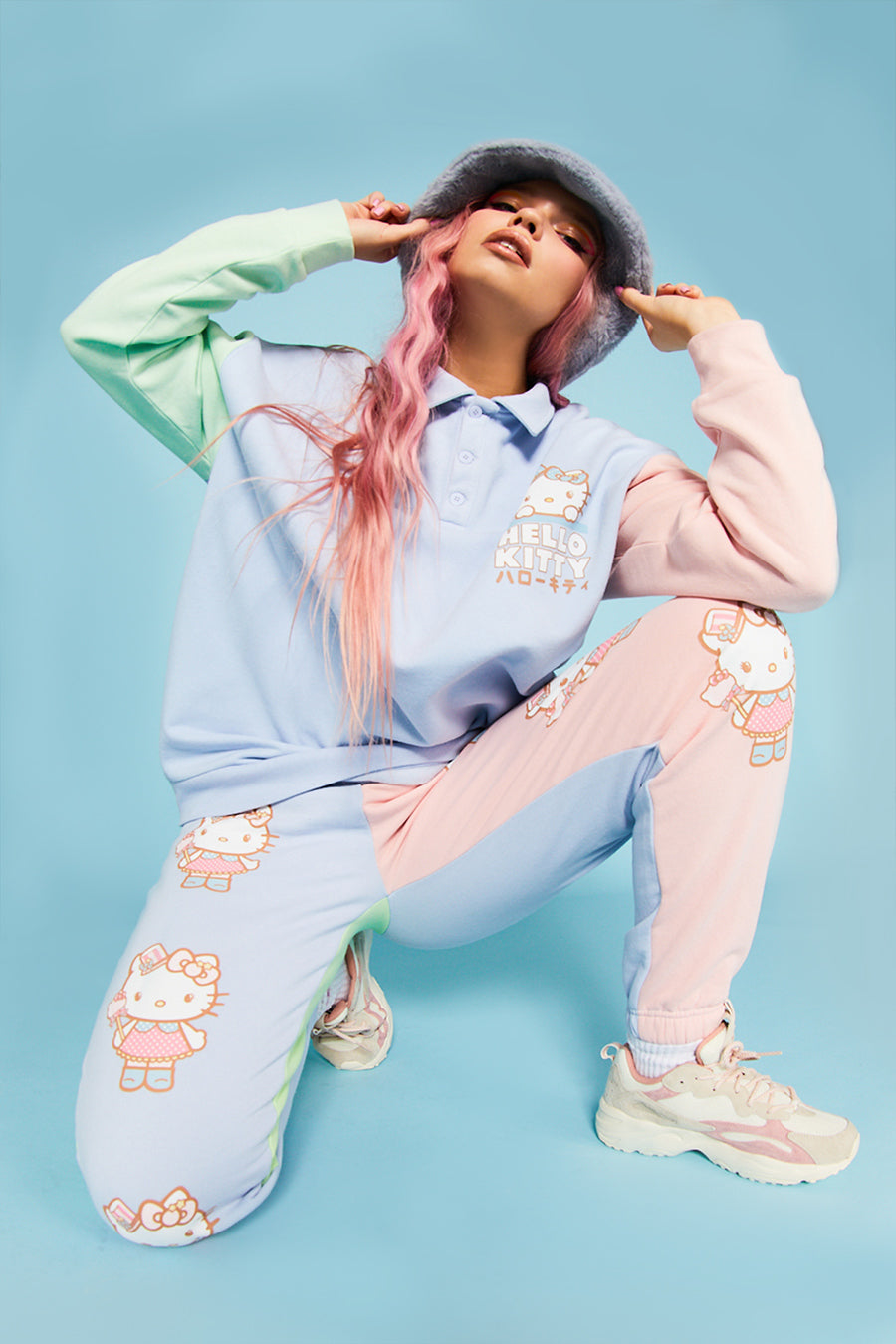 Hello Kitty colour block joggers