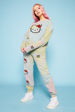 Hello Kitty tie dye joggers