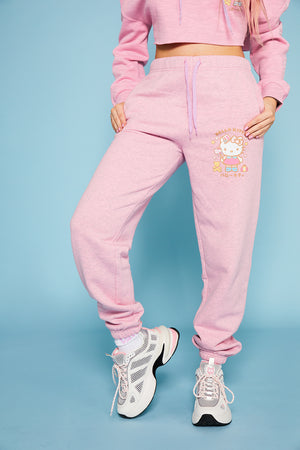 Hello kitty logo joggers