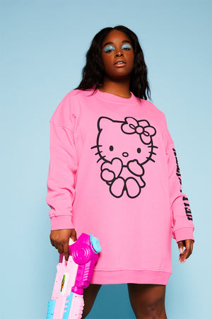 Hello Kitty pink sweat dress curve