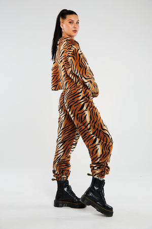 Tiger fleece joggers