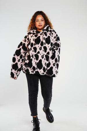 Cow borg hoodie curve
