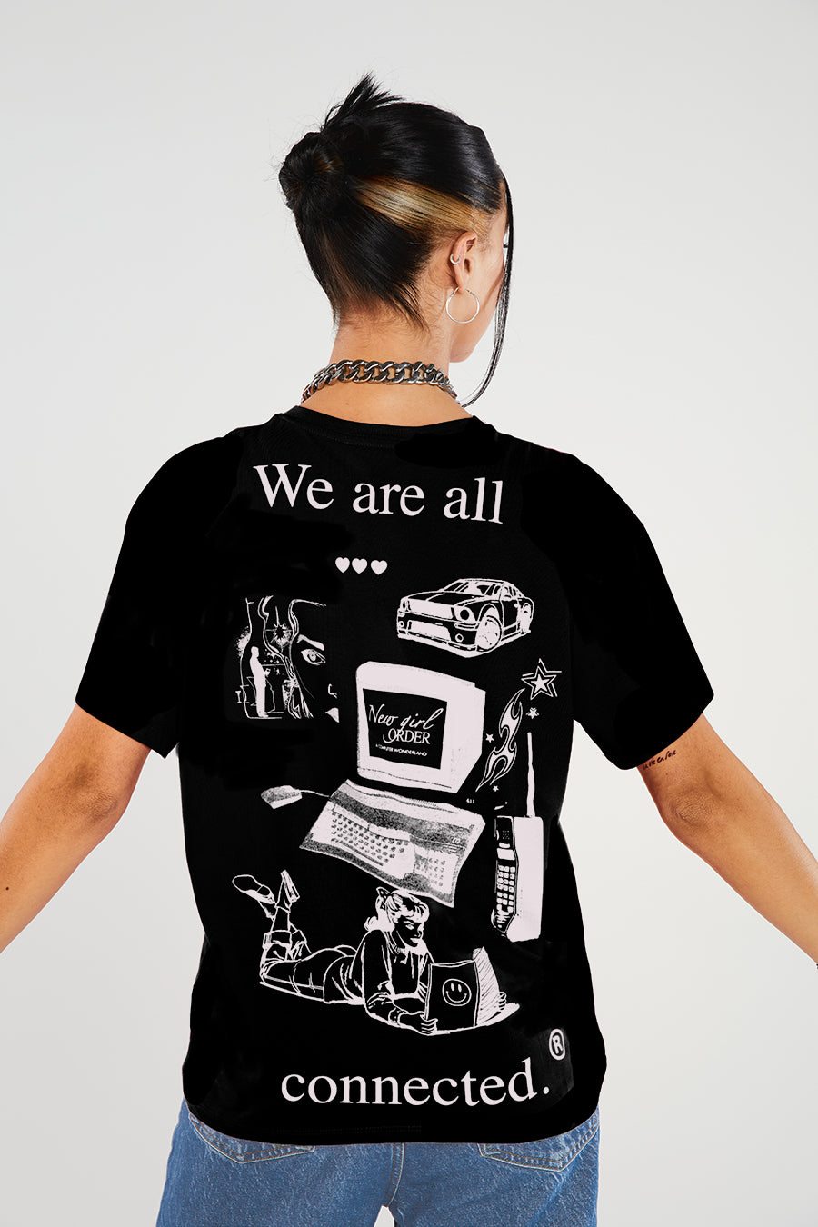 We are all connected tee