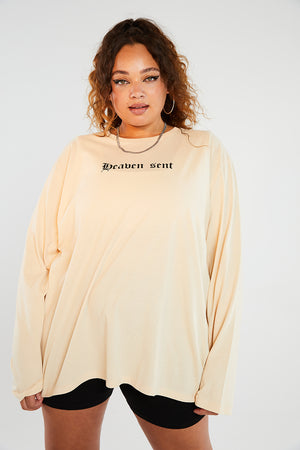 Heaven sent long sleeve top curve
