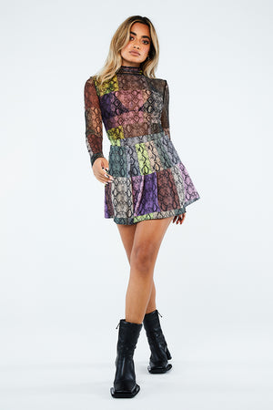 SNAKE MULTI PLEATED SKIRT
