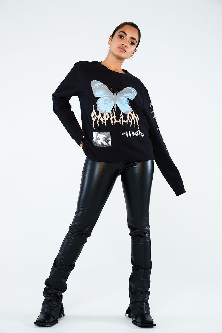 PAPILLON METAL SWEATSHIRT
