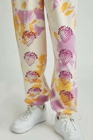 strawberry tie dye joggers