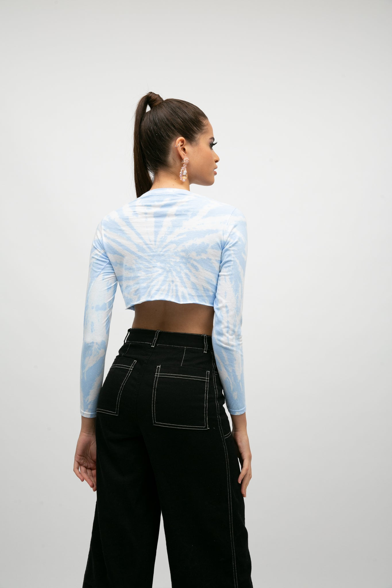 Sealed with a kiss long sleeve super crop top