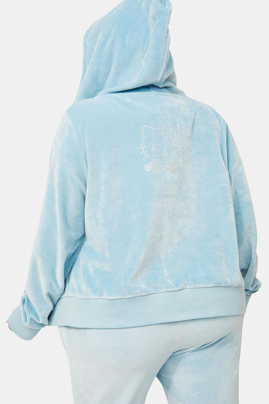 Hello Kitty Velour Diamante Hoodie Curve