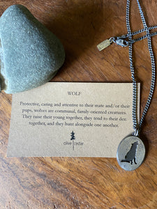 Fathers Day: Wolf Necklace, Unisex