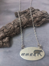 Mama Bear Necklace, Three Cubs