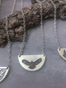 Eagle, Half-Moon Necklace