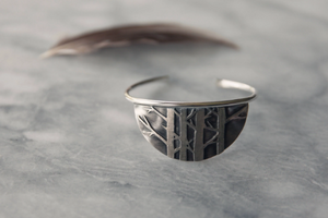 Half Moon Cuff / Bracelet, Birch Forest