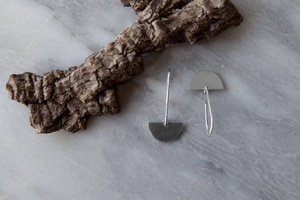 Half Moon Drop Earring