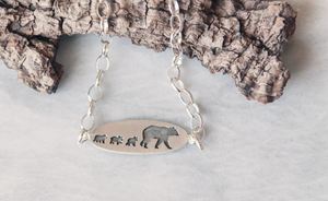 Mama Bear Bracelet, Three Cubs