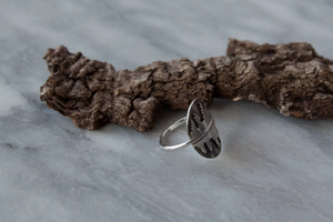 Reflection Ring, Pine Forest (sized to order)