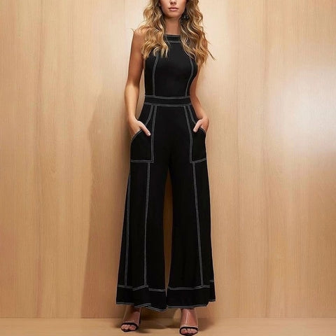 Ladies Fashion Casual Sling Jumpsuit