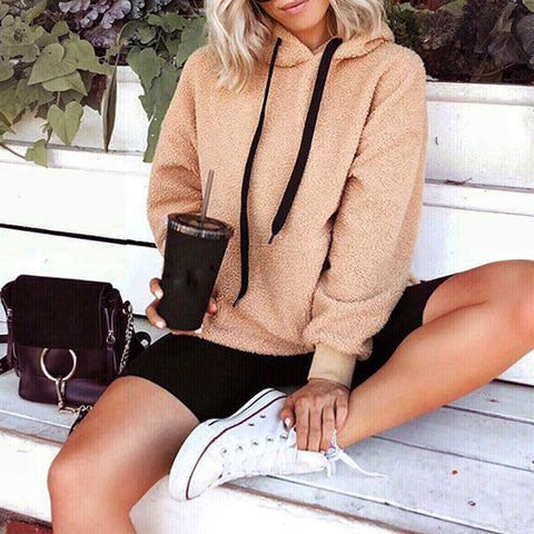 Fashion Warm Long Sleeve Plush Sweatshirt