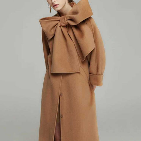 Autumn And Winter Fashion Womens Pure Color Coat
