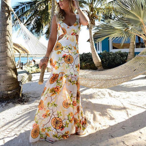 Bohemia Sexy V Collar  Mermaid Vacation Dress