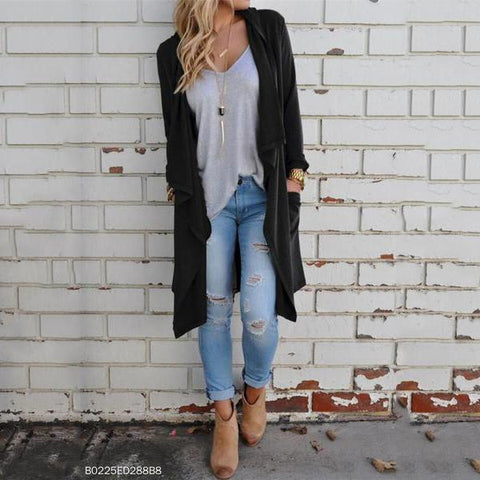 Knitted Long-Sleeved Cardigan Fashion Jacket